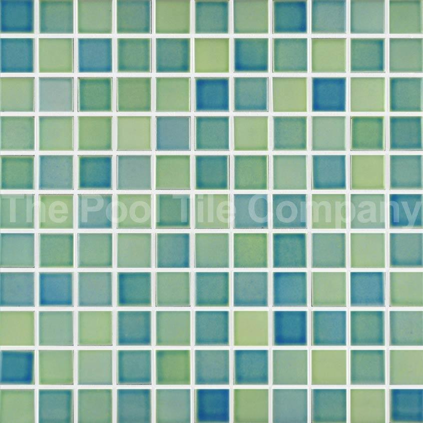 Cm257 lime punch ceramic mosaic pool tiles - Mosaic pool tiles ...