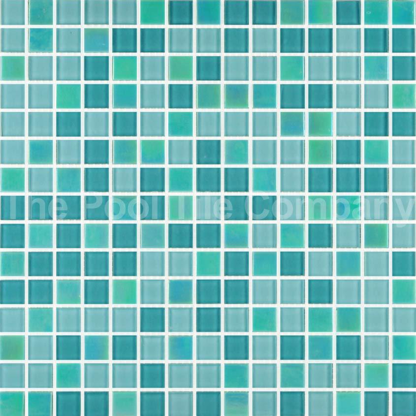 Gcr325 aqua crystal pearl blend mosaic pool tiles crystal glass - Mosaic pool tiles ...