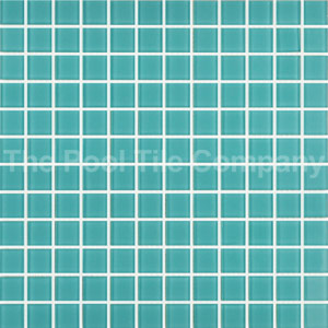 GCR040 Aqua Crystal 23mm mosaic tiles
