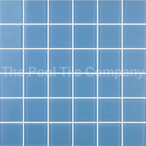 GCR207 Powder Blue 48mm glass mosaic tiles