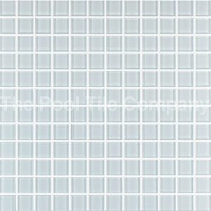 GCR220 White Crystal 23mm glass mosaic tiles