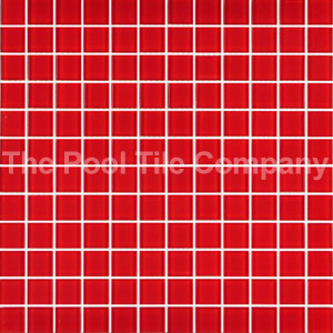 GCR235 Red 23mm Crystal mosaic pool tiles