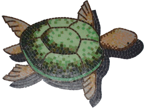 Glass Mosaic picture of a turtle