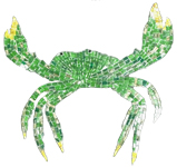 Glass Mosaic picture of green crab