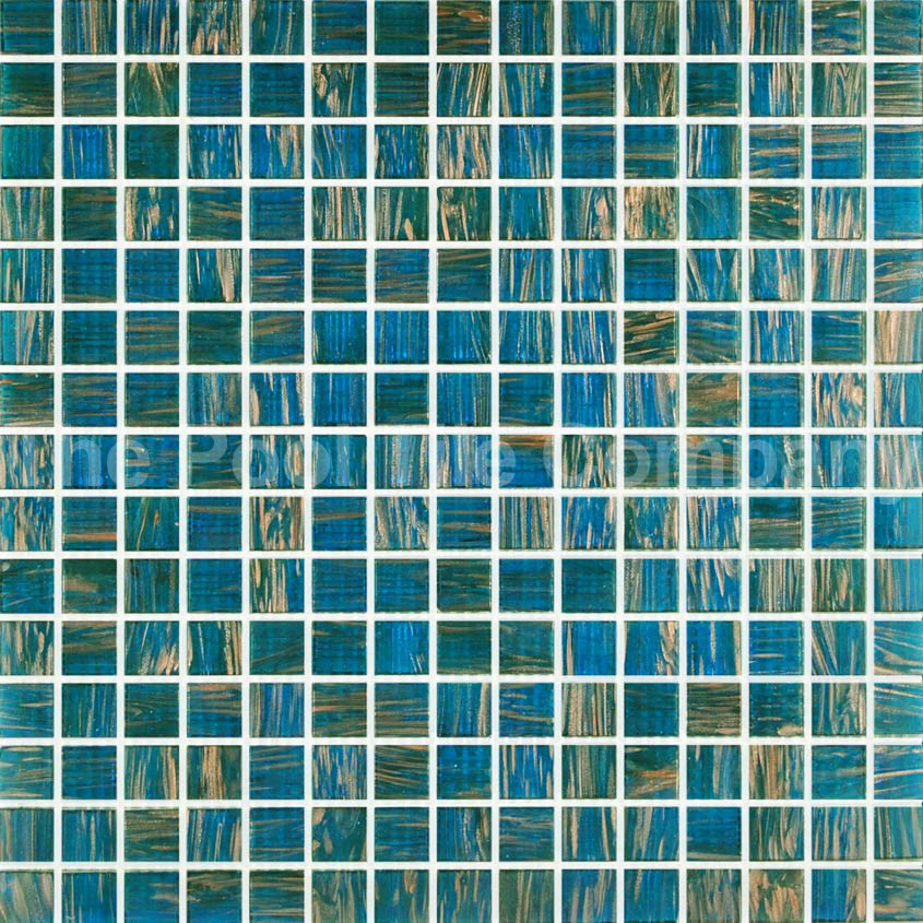 Turquoise Gold Pool Tiles Glass Mosaic Tiles Gc192