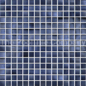 GC102 Charcoal Pearl glass mosaic tiles in place