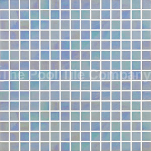 GC139 Ice Blue Pearl 20mm glass mosaic pool tiles