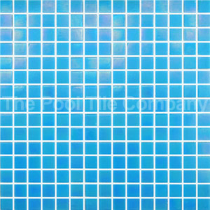 GC184 Light Sky Blue Pearl glass mosaic tiles