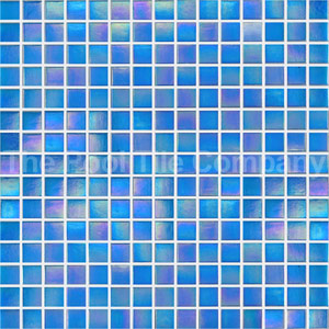 GC185 Sky Blue Pearl blend mosaic tiles