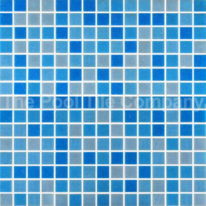 GC455 Mid Blue Blend glass mosaics
