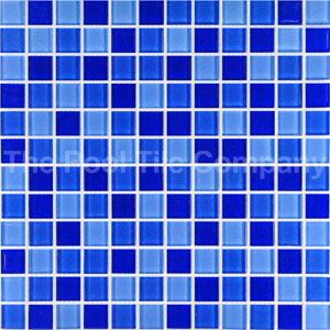 GCR080 Mid Blue Blend Crystal 23mm mosaic tiles