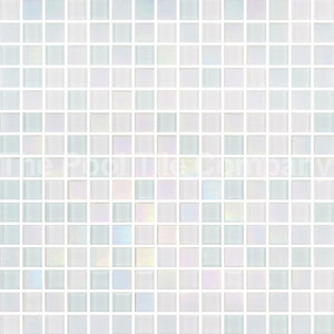 GCR305 White Crystal Pearl Blend 20mm glass mosaics