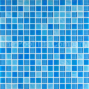 Glass Mosaic Tiles for Swimming Pools Waterline tiles and ...