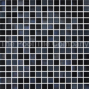 GCR320 Charcoal Crystal Pearl Blend 20mm glass mosaic tiles