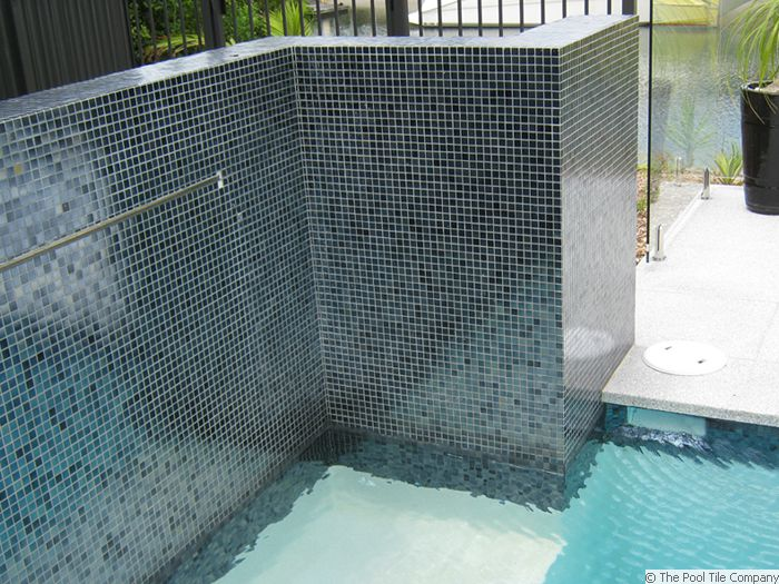 Charcoal Pearl Glass Mosaic Pool Tiles Gc102