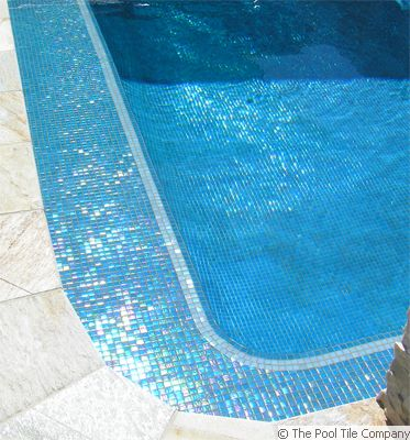 Sky Blue Pearl Glass Mosaic Tiles