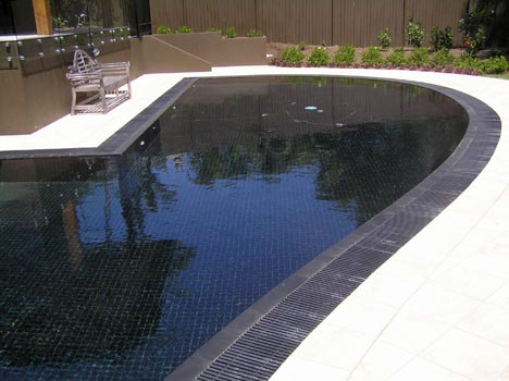 Cm973 Gloss Black Photo Gallery Of Pool Tiles In Place