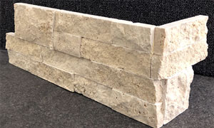 Travertine Linen Walling Corner