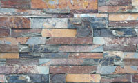 Sunset Stacked Stone Panel