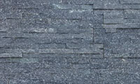 Black Quartzite Stacked Stone Panel