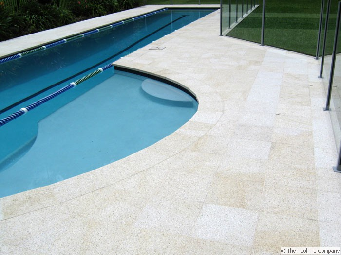 Almond Granite Pool Tiles Amp Coping Outdoor Pavers And Coping
