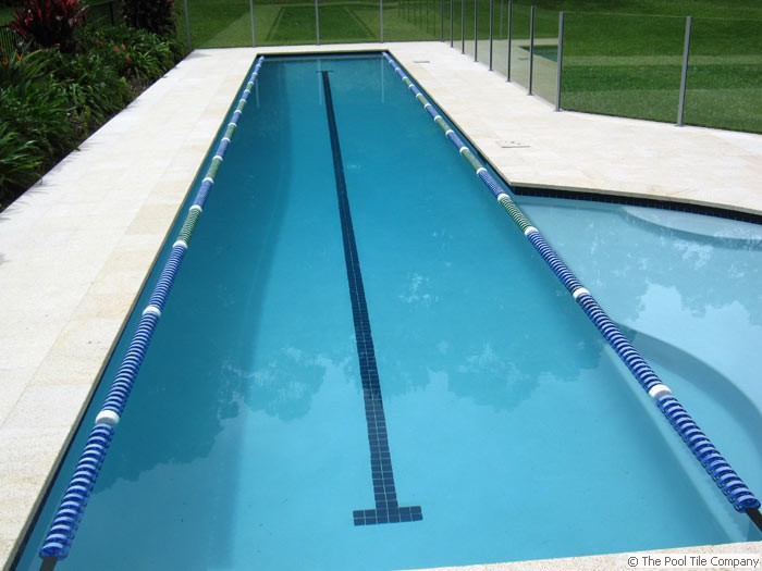 Coping And Matching Surround Tiles Almond Granite Pool Tiles And