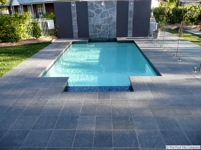 Black Granite Pool Tiles And Pavers
