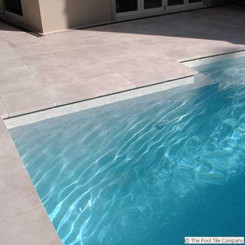 Crema Limestone Tumbled Pool Tiles And Pavers