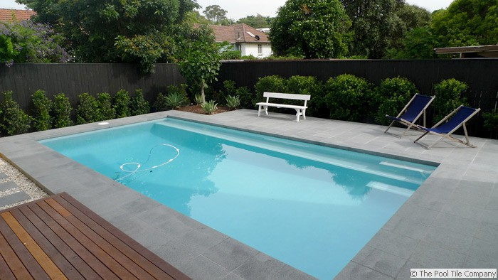 Dark Grey Granite Pool Tiles And Coping Outdoor Pavers