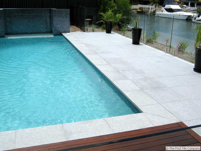 Light Grey Granite Pool Tiles And Pavers