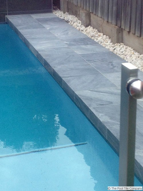 Parisian Blue Limestone Pool Tiles And Pavers