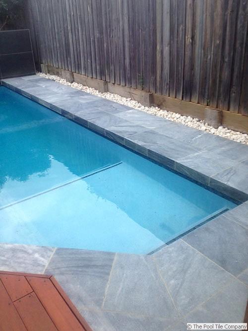 Parisian Blue Limestone Pool Tiles And Pavers