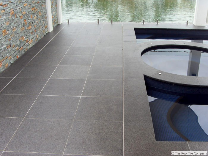 Black Granite Pool Tiles And Pavers