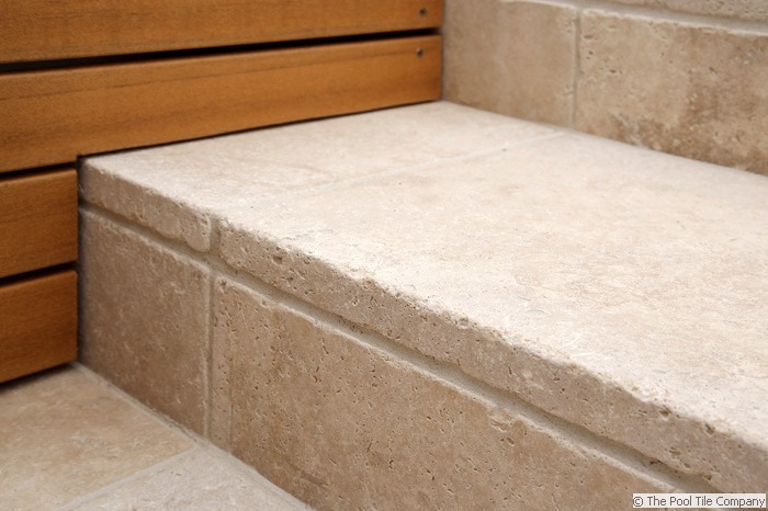 Tumbled Travertine 30mm Thick Step Tread ...