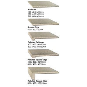 Almond Granite Coping Profiles