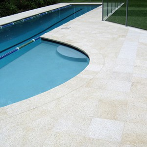 Almond Granite Coping and matching Pool surround tiles