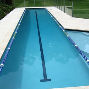 Almond Granite Pool tiles and matching Coping