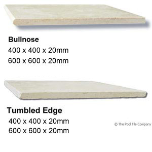 Crema Limestone Tumbled Coping Tile Profiles
