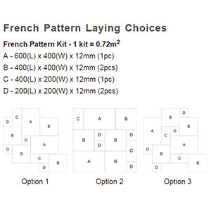 French Pattern Laying Choices and Sizes