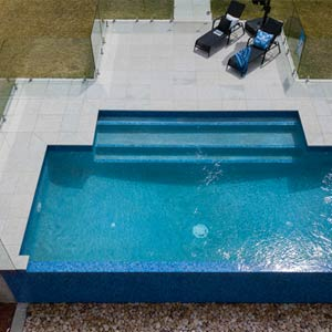 Light Grey Granite Pool Pavers