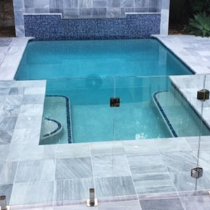 Parisian Blue Limestone Pool Coping