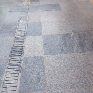 Sandwave Granite with matching Stone Grate
