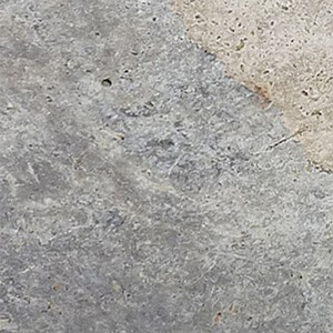Silver Travertine Tile closeup