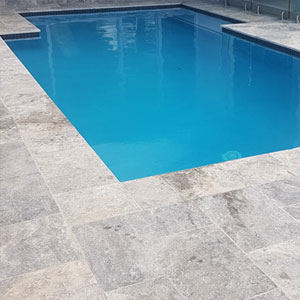 Silver Travertine Pool Pavers