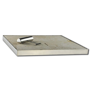 Tumbled Travertine Linen Skimmer Box Lid
