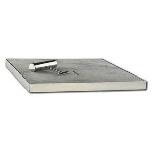 New Silver Travertine Skimmer Plate