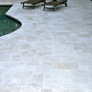 Travertine Linen Tumbled Unfilled French
