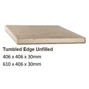Ivory Travertine tumbled unfilled coping profiles