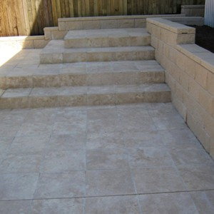 Travertine Linen Honed Filled Paving