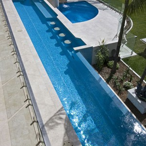 Macadamia Travertine honed filled Pool Tiles